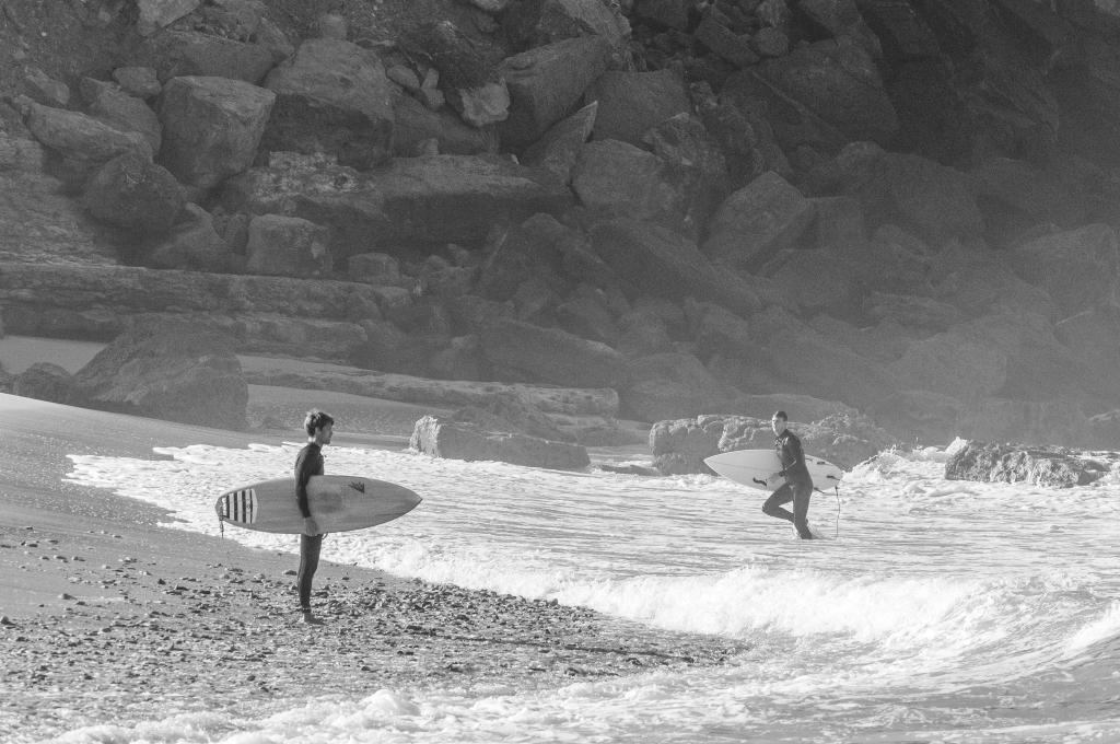 surfers having fun